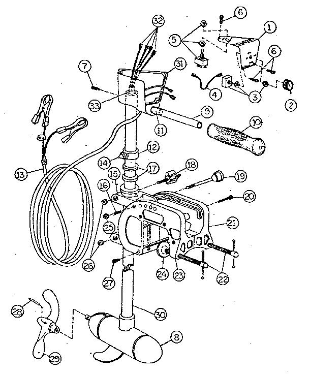 Sears model 57559391 boat motor electric genuine parts