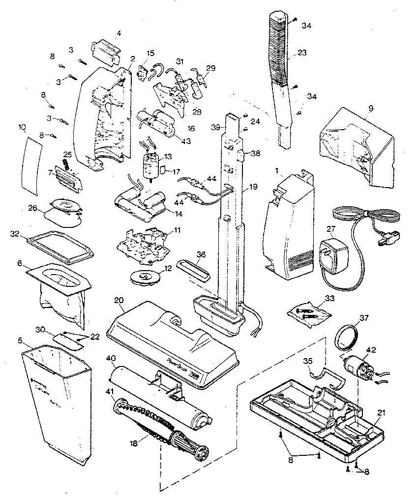 Black-Decker model 9344TY1 vacuum, hand-held genuine parts