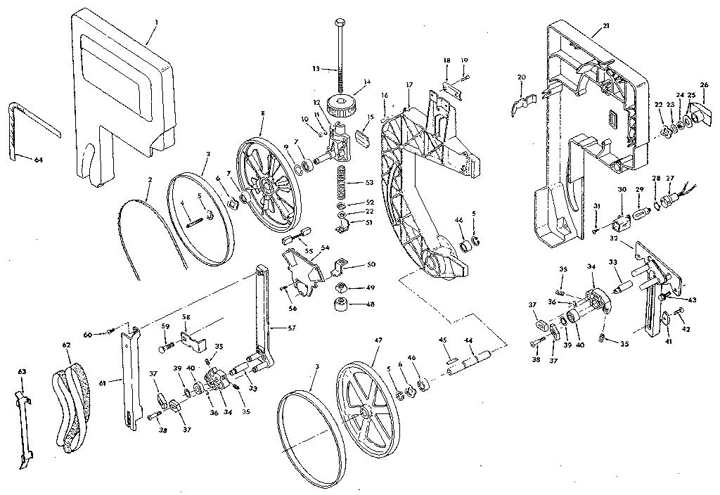 Craftsman model 113248320 band saw genuine parts