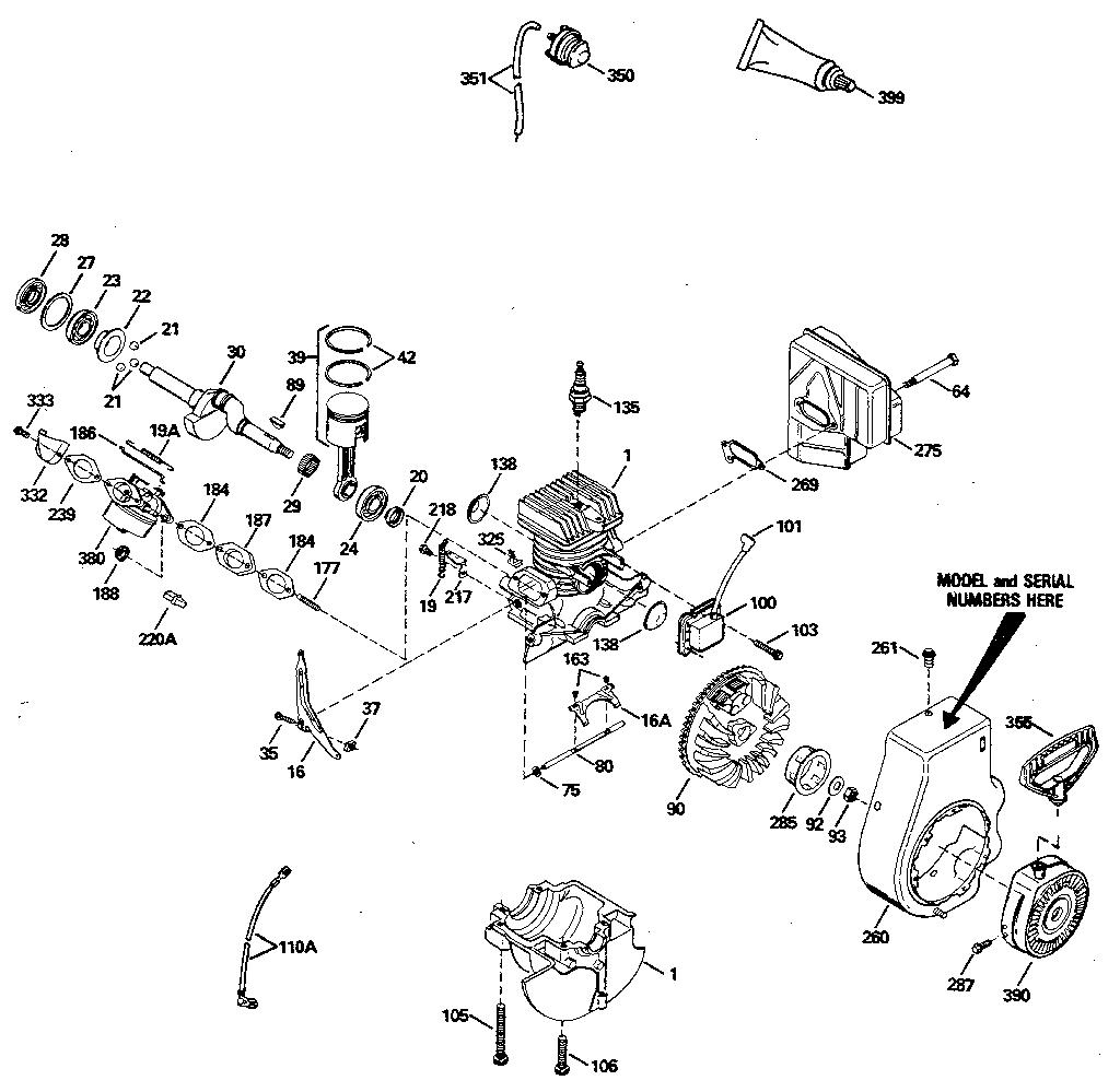 Tecumseh model HSK840-8203 engine genuine parts