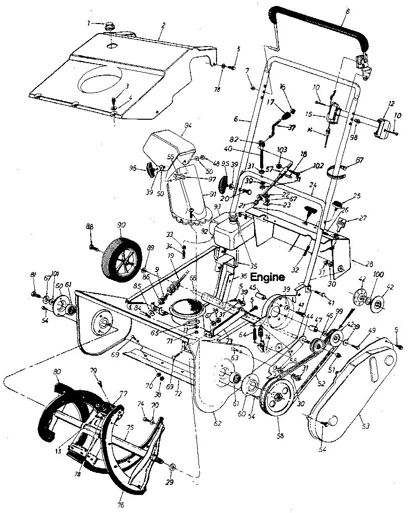 Craftsman model 247884311 snowthrower, gas genuine parts