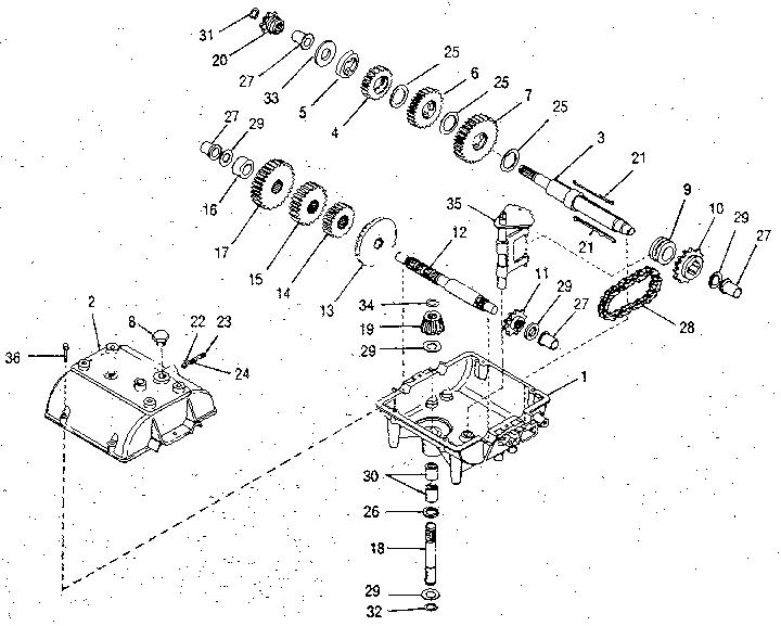 Peerless model 700-005 transaxle/transmission, tractor