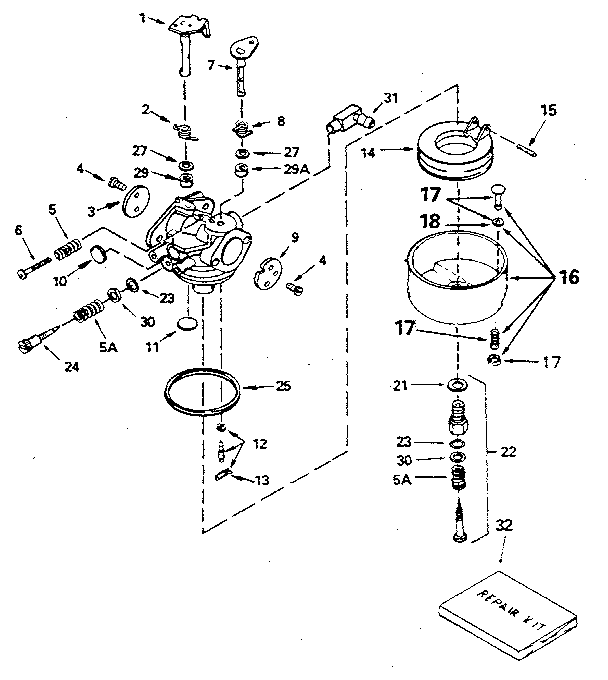 Craftsman model 143416032 engine genuine parts