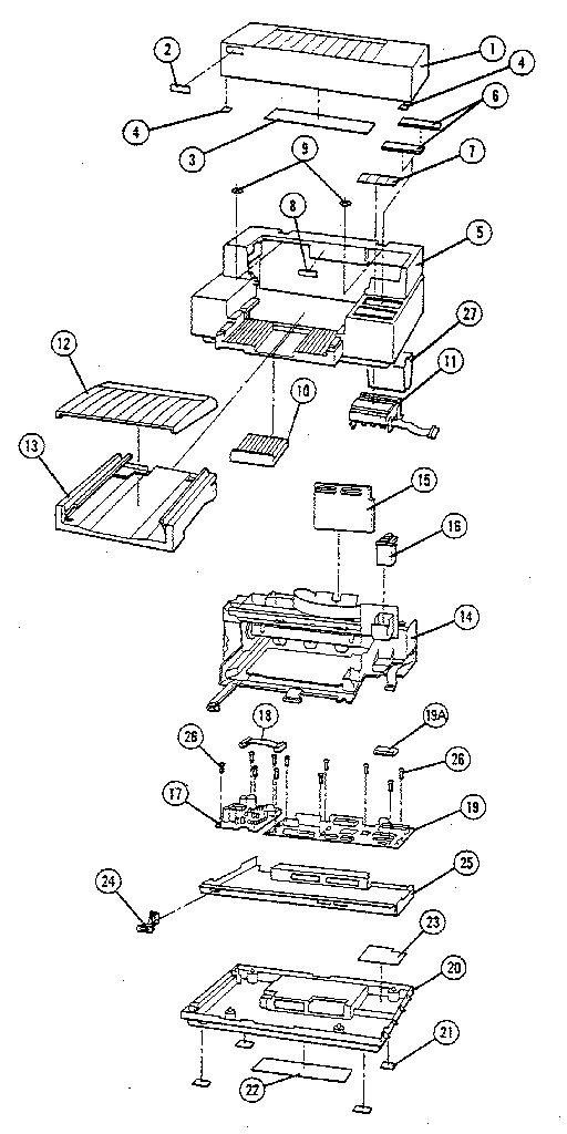 Hewlett-Packard model HP2276A DESK JET printer genuine parts