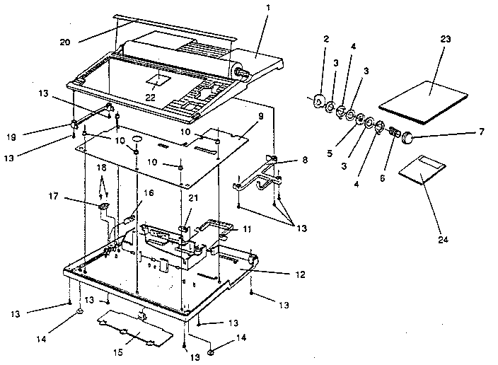 Smith-Corona model 50LT word processor genuine parts