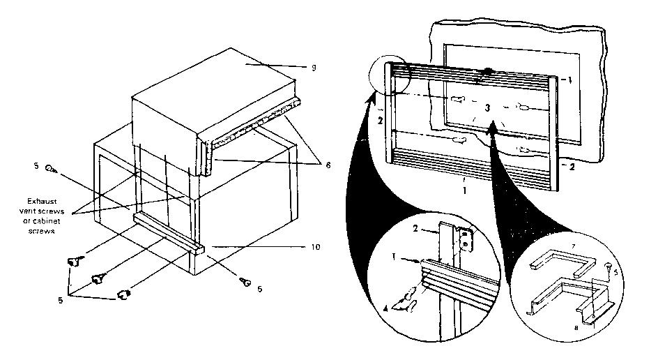 Kenmore model 84190 microwave built-in trim kits
