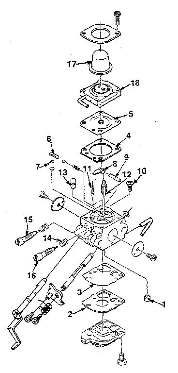 Homelite model BP-250 blower, gas genuine parts