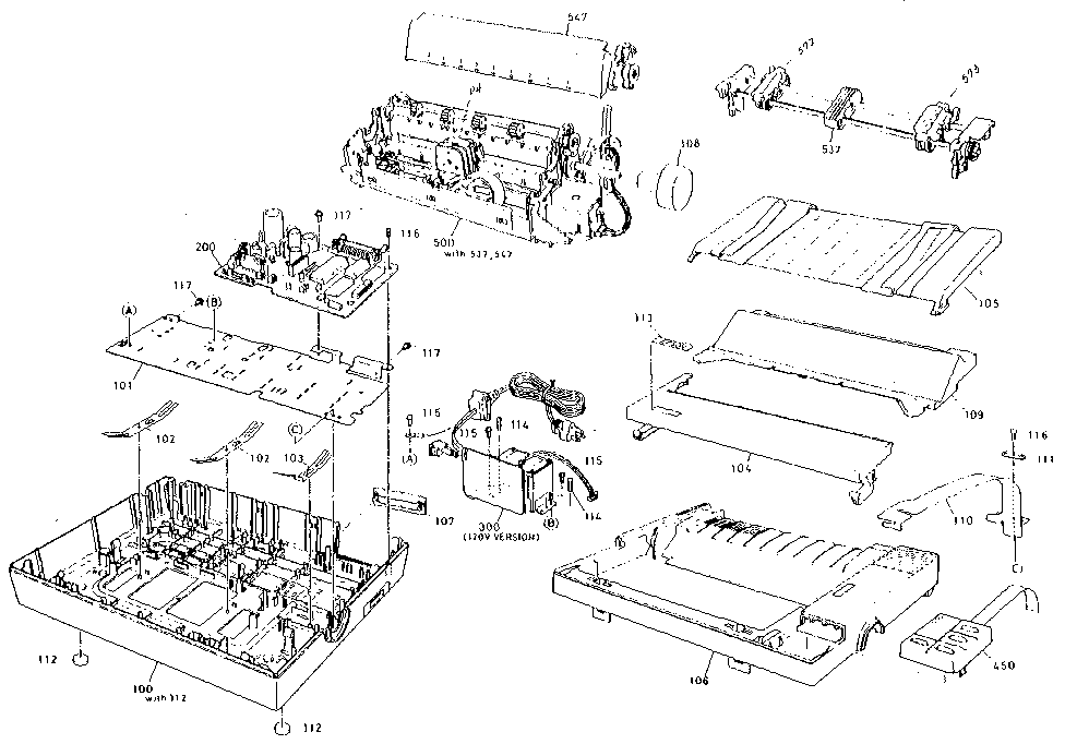 Epson model LX-810 computer/printer genuine parts