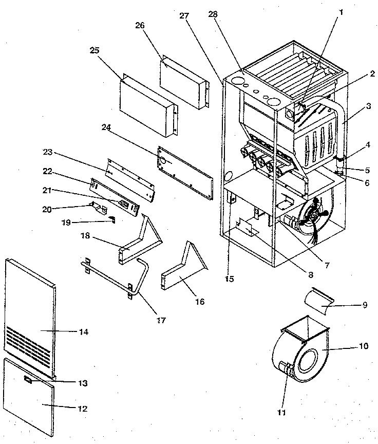 Icp model NUGK125DK06 furnaces/heaters genuine parts