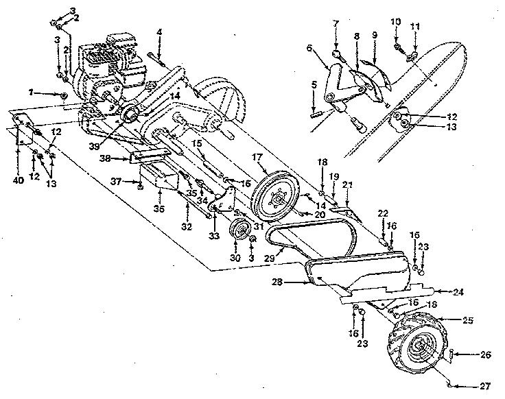 Sears Garden Tiller Parts