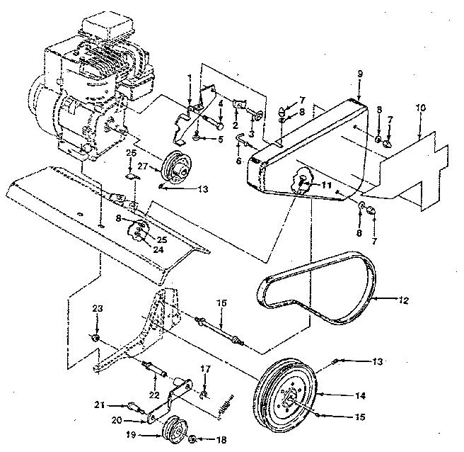 Craftsman model 917298242 front tine, gas tiller genuine parts