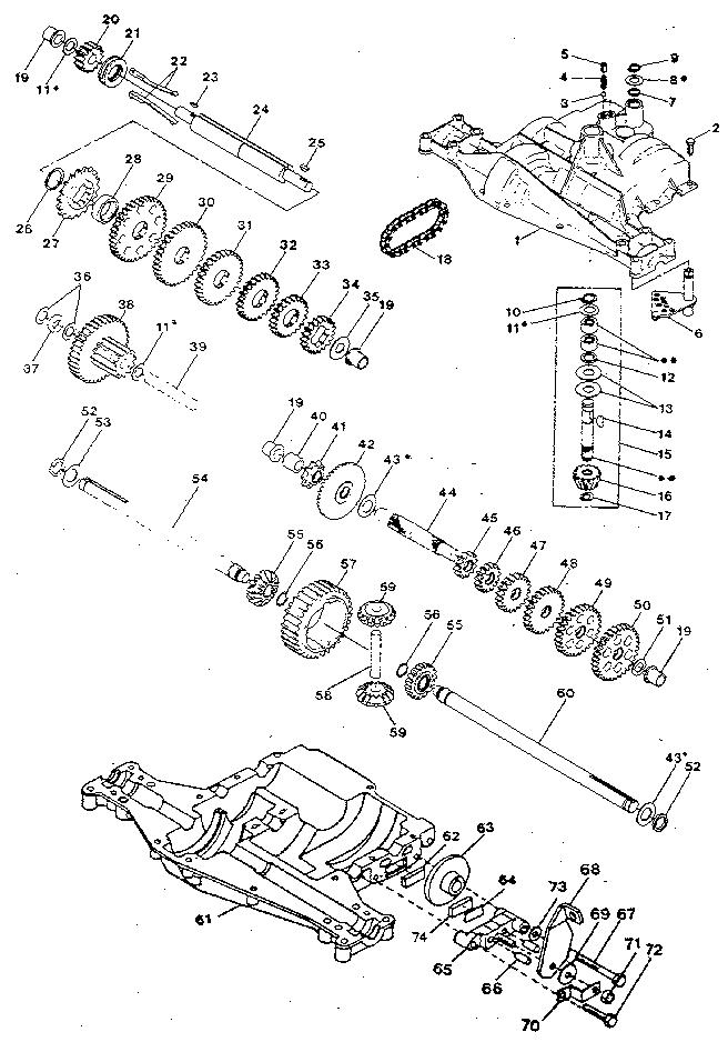 Craftsman model 917254661 lawn, tractor genuine parts