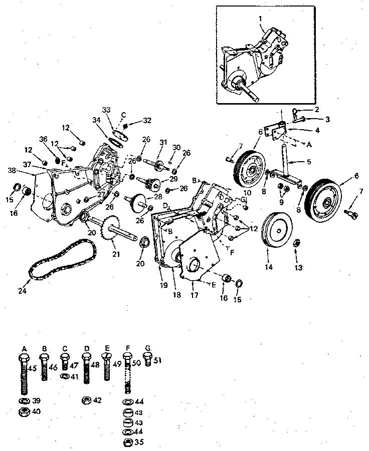 Craftsman model 917252493 tiller attachment genuine parts