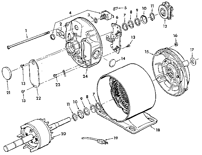 Craftsman model 68018 motor electric genuine parts