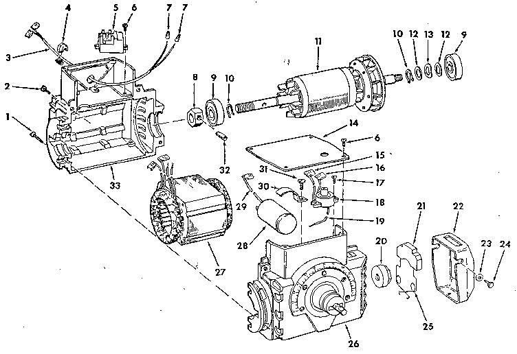 Craftsman model 63507 motor electric genuine parts