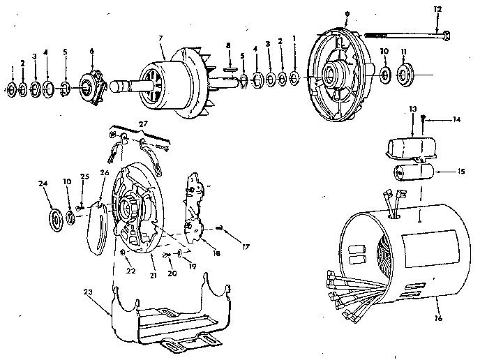 Craftsman model 62817 motor electric genuine parts