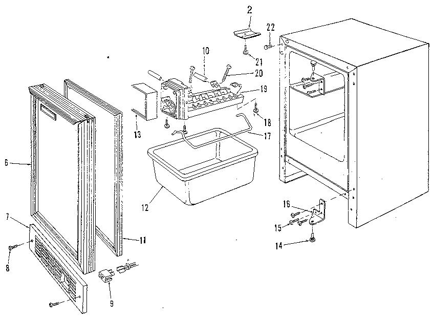 Marvel model 15IM freestanding icemaker genuine parts