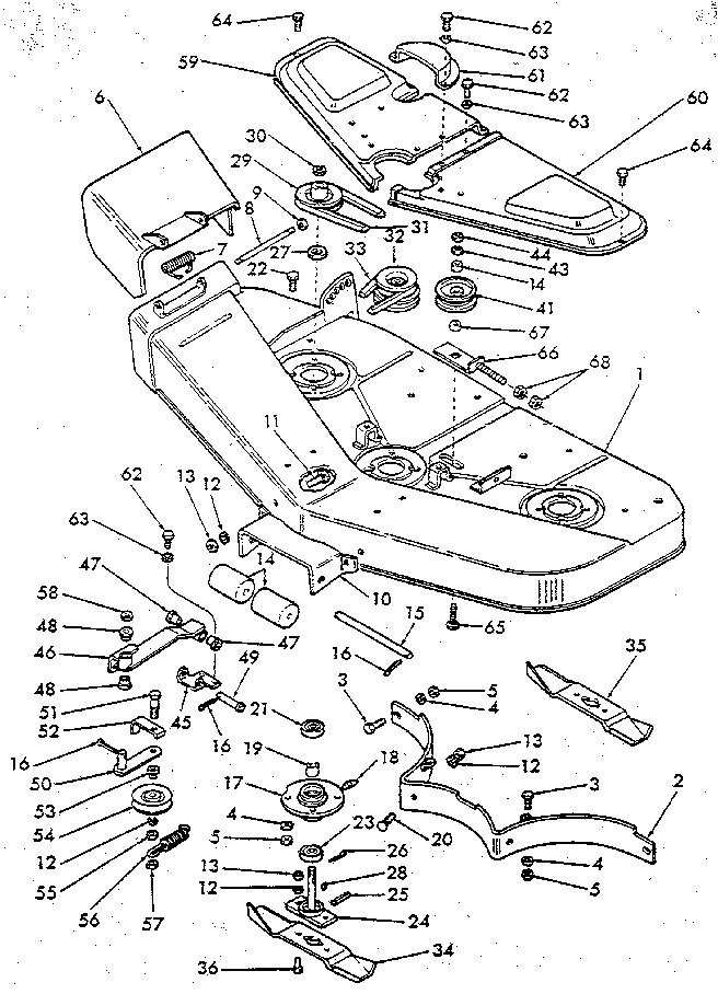 Ford model 9607441 mower deck genuine parts