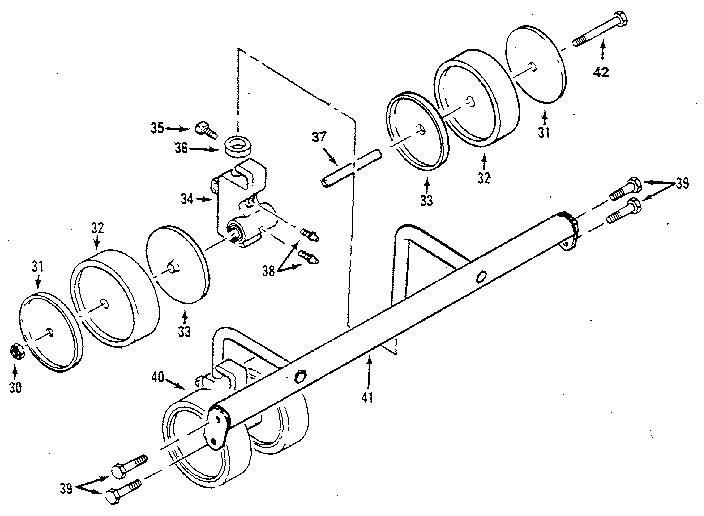 King model S4090B reel mower genuine parts