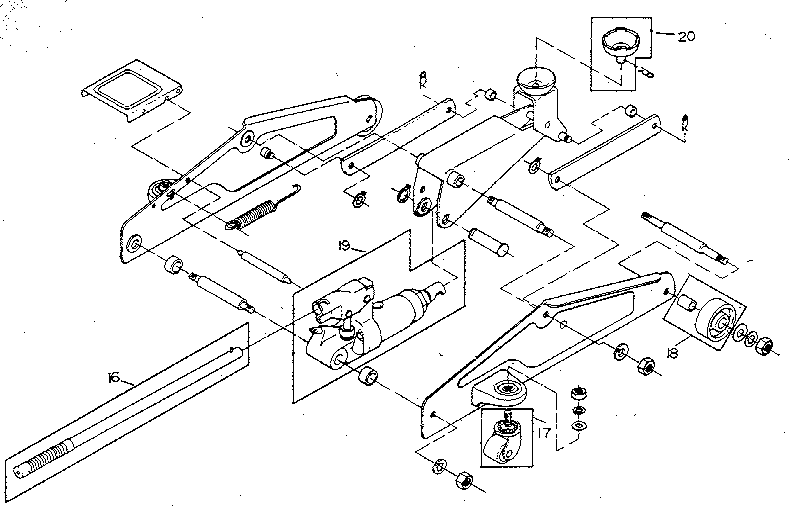 Craftsman model 214125300 jack hydraulic genuine parts
