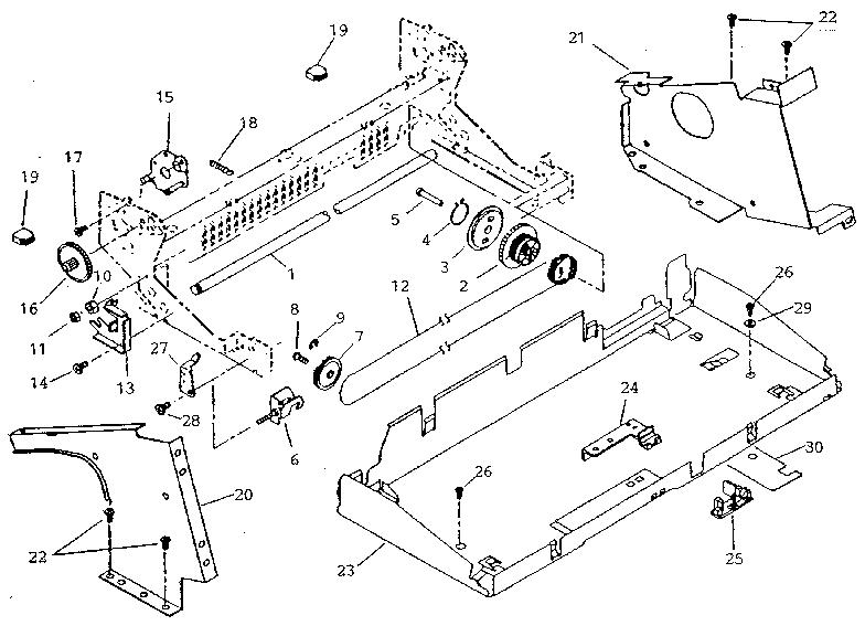 Sears model 26853930 typewriter genuine parts