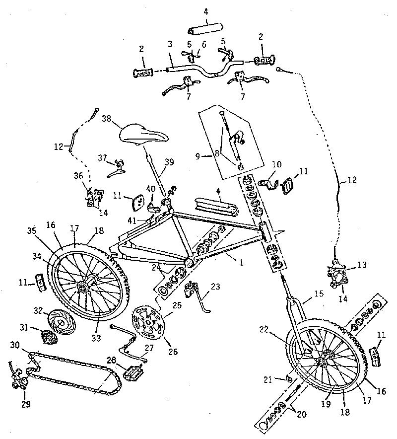 Kent model LX-10GIRLS bicycles genuine parts
