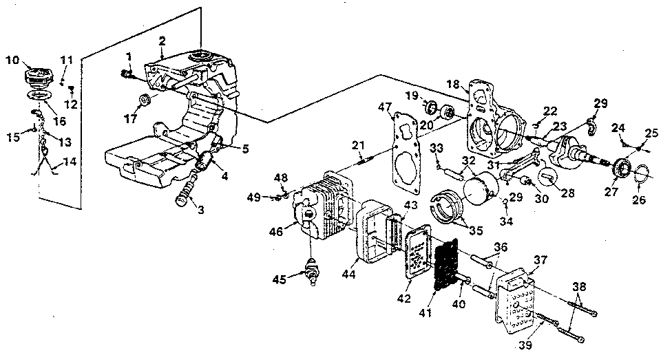 Homelite model SXL-AO-UT-10045C chainsaw, gas genuine parts