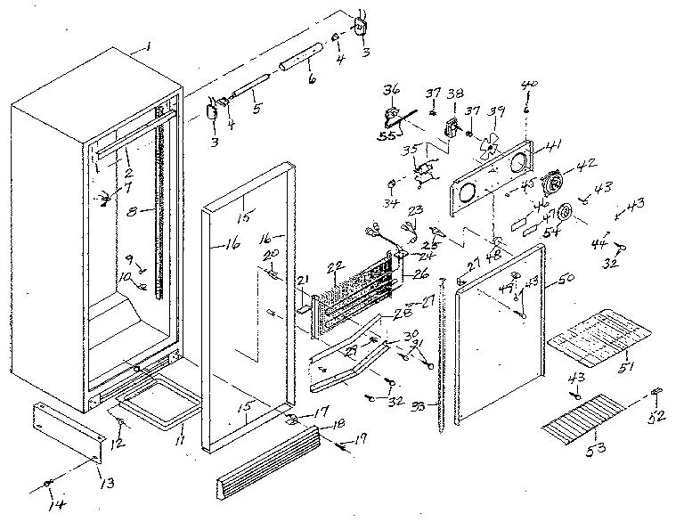 Northland model RFG285/1713 upright freezer genuine parts