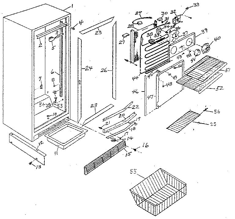 Northland model UF30E/1410 upright freezer genuine parts