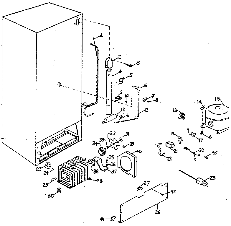 Northland model UF30G/1447 upright freezer genuine parts