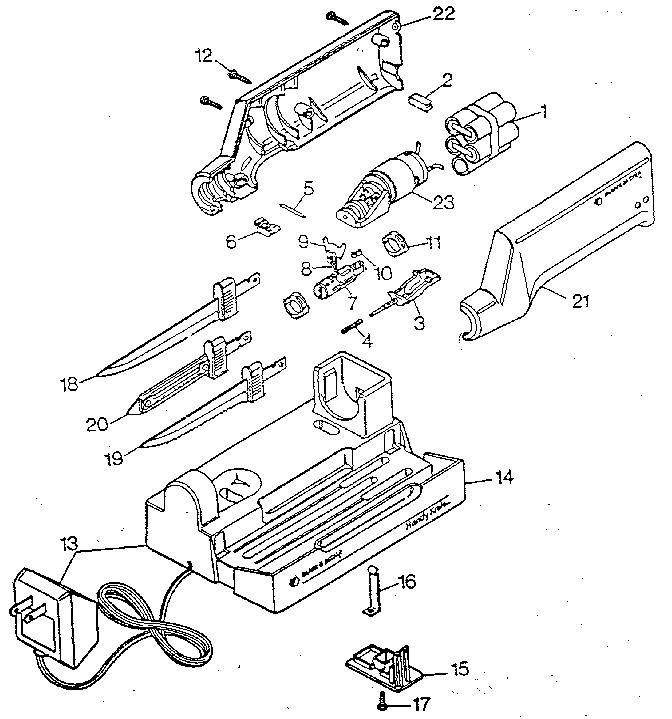 Black-Decker model HK30 electric knife genuine parts