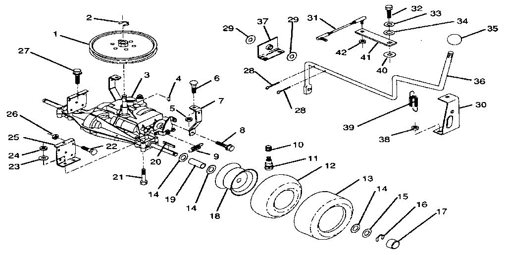 Craftsman model 917256321 lawn, riding mower rear engine