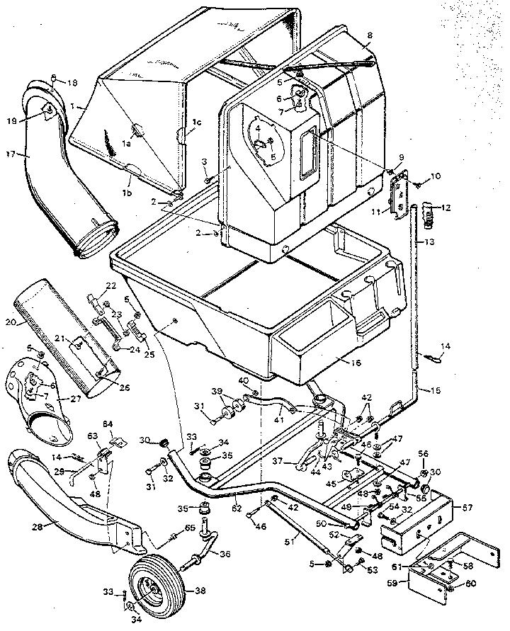 Craftsman model 365246320 lawn vacuum genuine parts