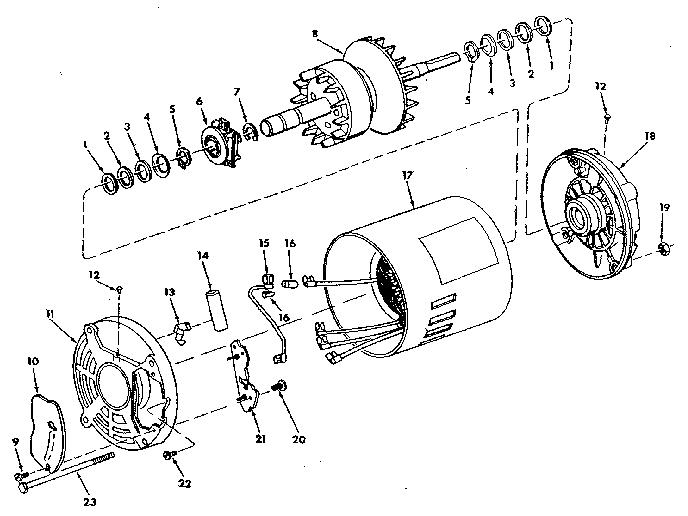 Craftsman model 816613 motor electric genuine parts
