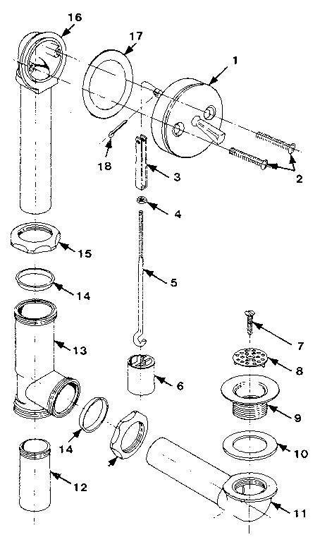Universal-Rundle model W18-W19 storm/screen door genuine parts