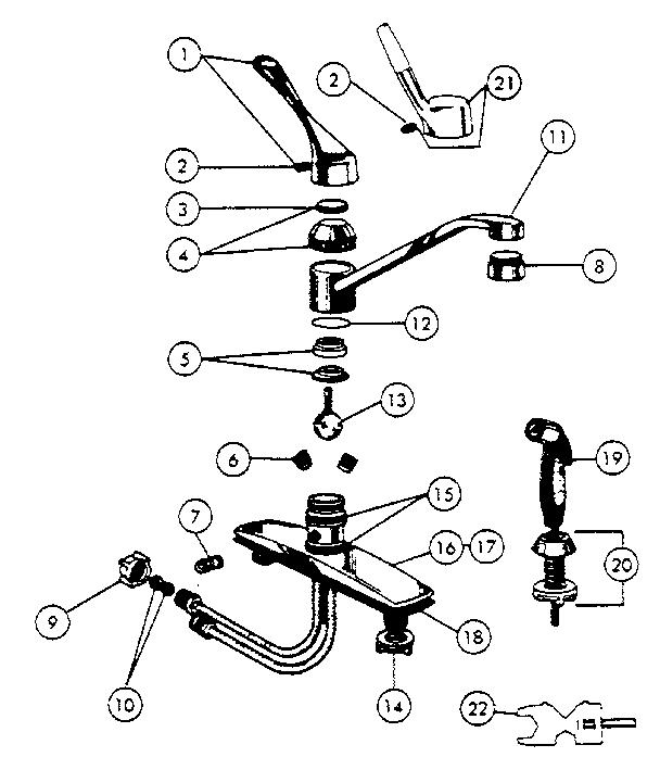 Peerless model 8400 faucet genuine parts