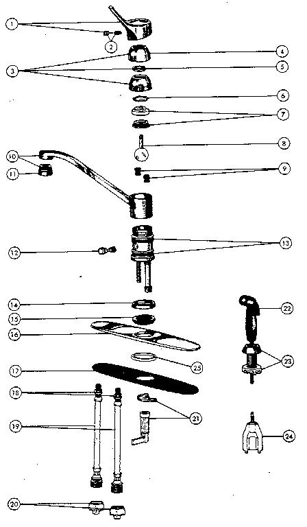 Peerless model 3041 faucet genuine parts