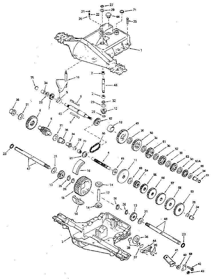 Peerless model 920-023 transaxle/transmission, tractor