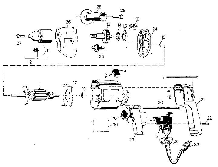 Black-Decker model 7277 drill driver genuine parts