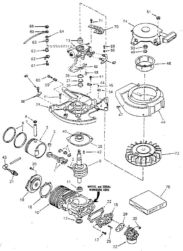 Craftsman model 217586611 boat motor gas genuine parts