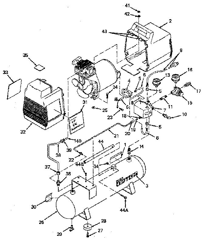 Craftsman model 919153200 air compressor genuine parts