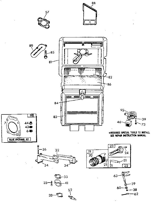 Generac model 9202-0 generator genuine parts