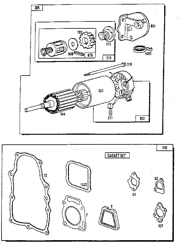Generac model 9010-1 generator genuine parts