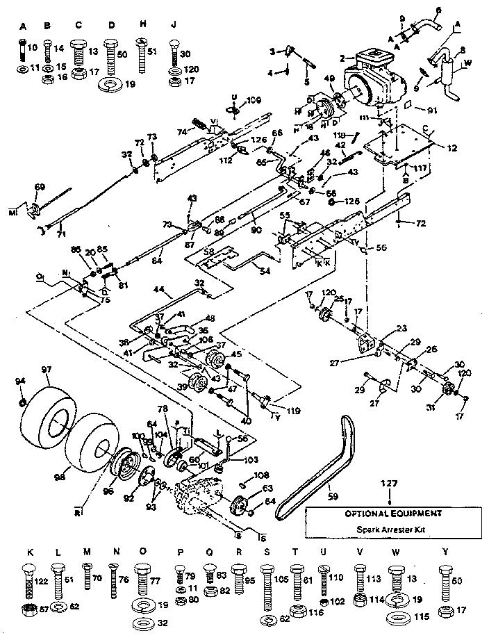 Craftsman model 917255930 lawn, tractor genuine parts