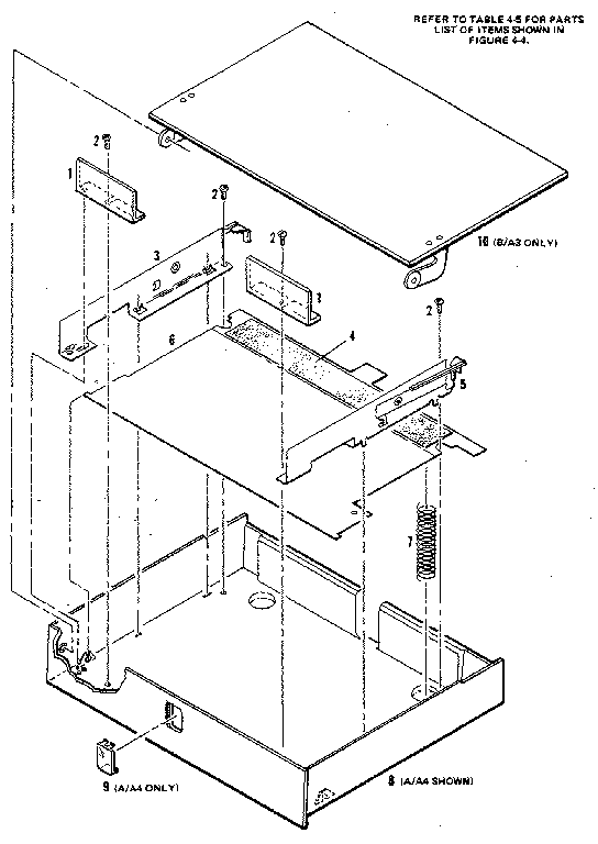 Hewlett-Packard model HP7550A plotter genuine parts
