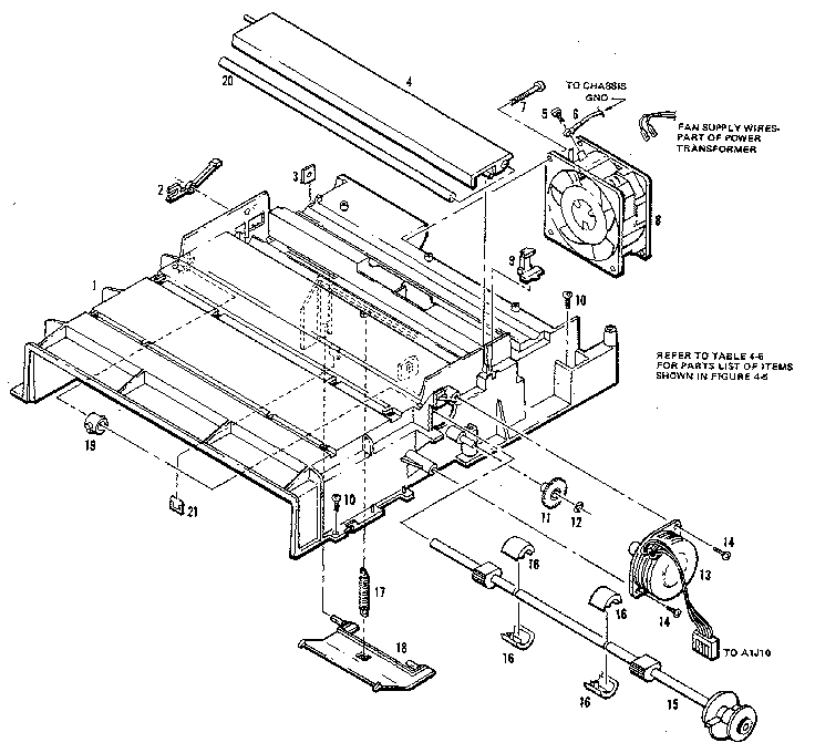 Hewlett-Packard model HP7550A plotter genuine parts