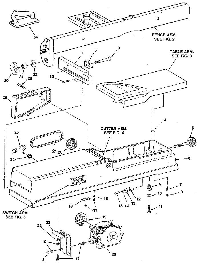 Craftsman model 113232210 jointer/planer genuine parts