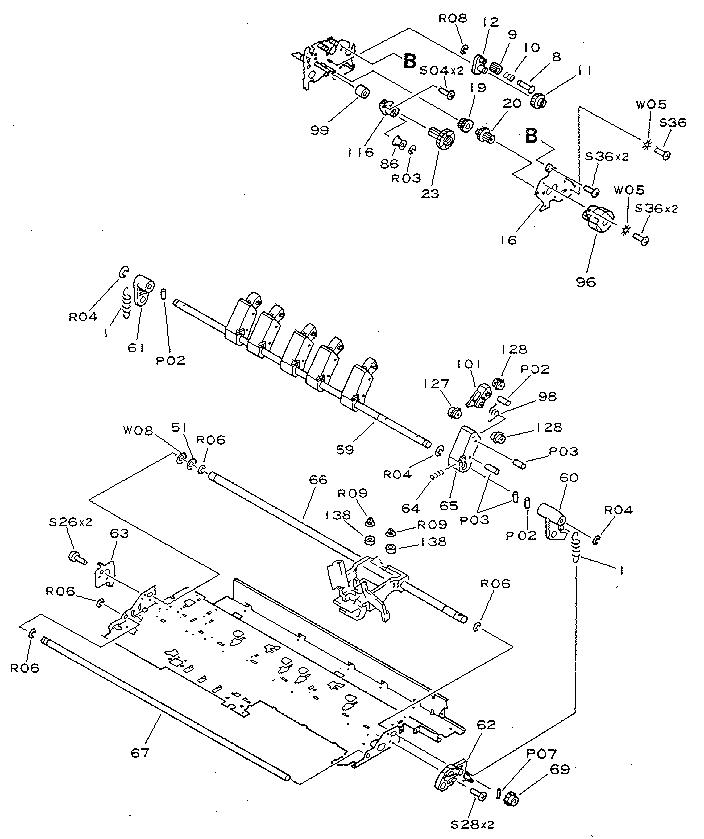 Canon model BJ-130E computer/printer genuine parts