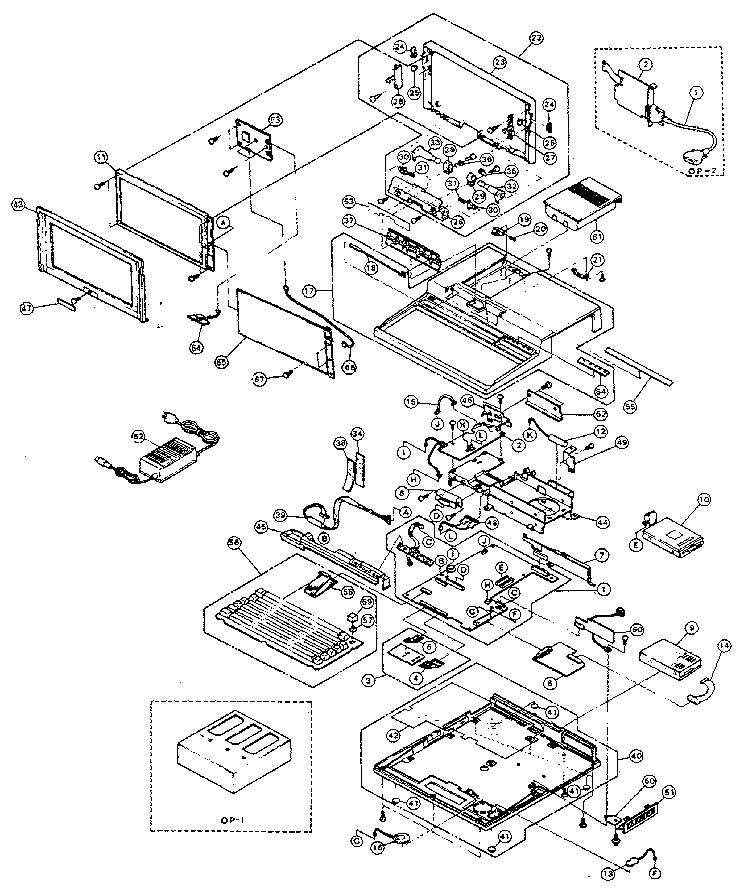 Toshiba model T1200H/HB computer genuine parts