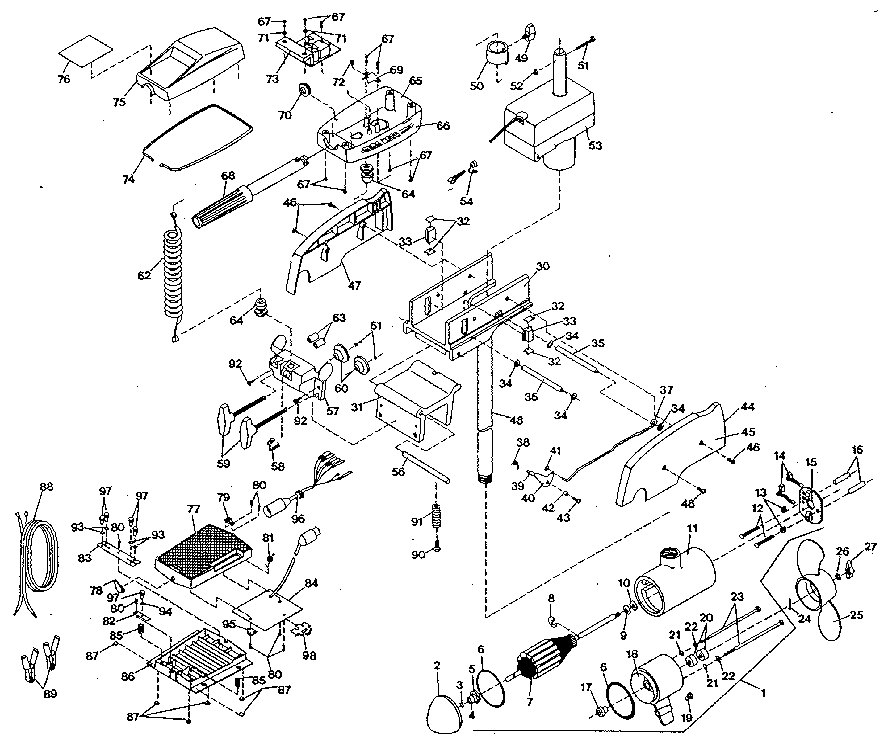 Minn-Kota model 665MX boat motor electric genuine parts
